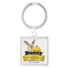 Bunny Concierge Square Keychain