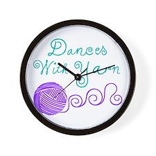 Dances with Yarn Wall Clock