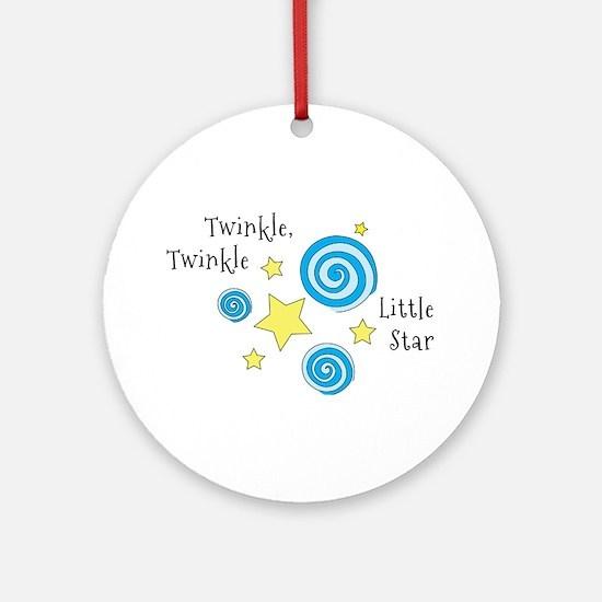 Twinke, Twinkle Little Star Ornament (Round)