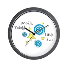 Twinke, Twinkle Little Star Wall Clock
