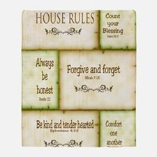 House Rules Throw Blanket