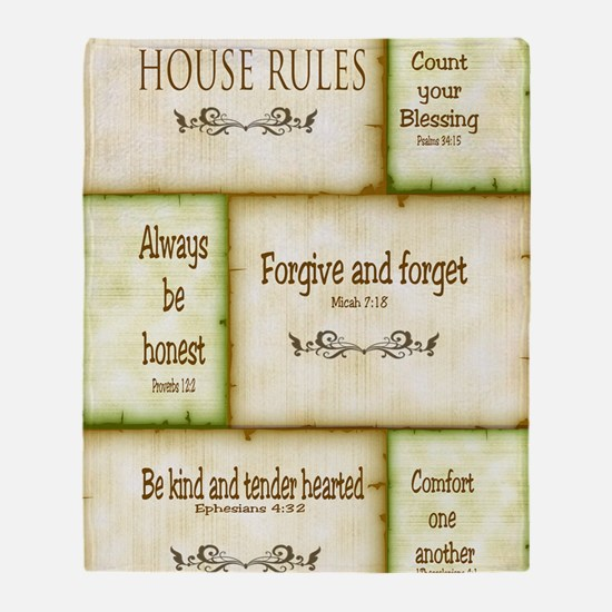 House Rules Throw Blanket