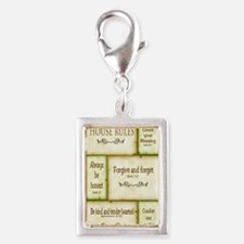 House Rules Silver Portrait Charm