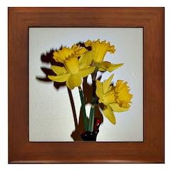 Yellow Daffodils Framed Tile