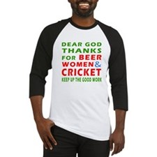 Beer Women and Cricket Baseball Jersey