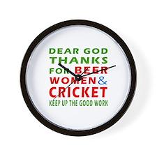 Beer Women and Cricket Wall Clock