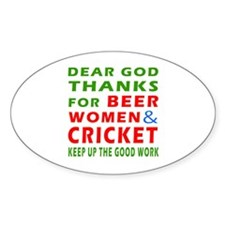 Beer Women and Cricket Decal