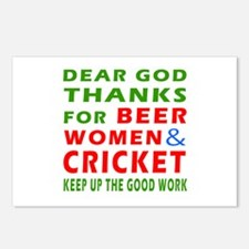 Beer Women and Cricket Postcards (Package of 8)