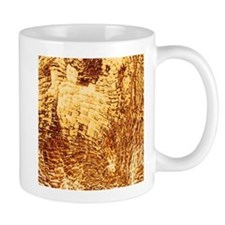 structure metallic golden Mugs