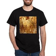 structure metallic golden T-Shirt