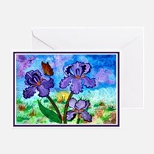 One - Iris At Sunrise Greeting Card (3 Sizes)