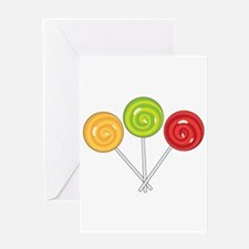Lollipops Greeting Cards