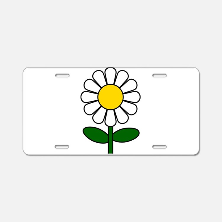 Daisy Flower Aluminum License Plate