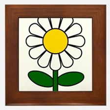 Daisy Flower Framed Tile