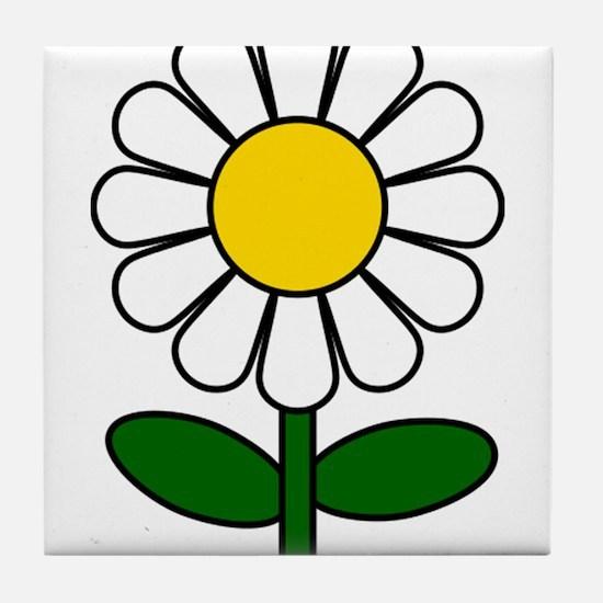 Daisy Flower Tile Coaster