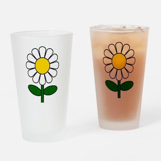 Daisy Flower Drinking Glass