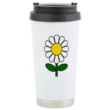 Daisy Flower Travel Mug