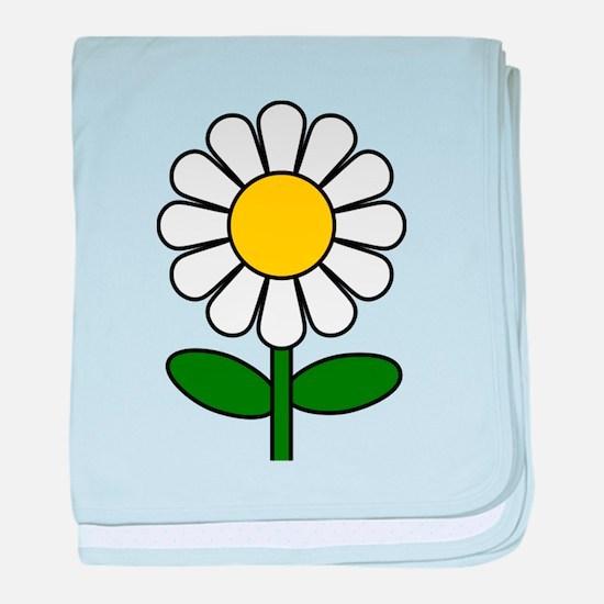 Daisy Flower baby blanket
