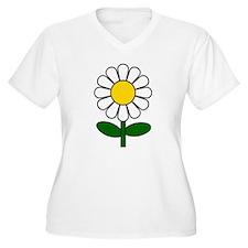 Daisy Flower Plus Size T-Shirt
