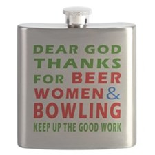 Beer Women and Bowling Flask