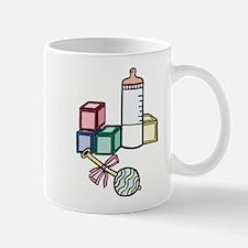 Baby Blocks, Bottle & Rattle Mug