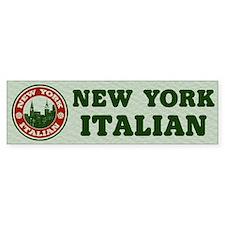 New York Italian American Bumper Bumper Sticker
