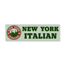 New York Italian American Car Magnet 10 x 3