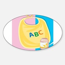Baby ABC Bib Oval Decal