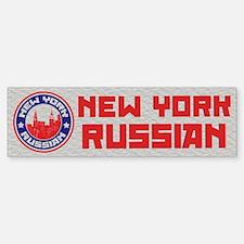 New York Russian American Bumper Bumper Bumper Sticker