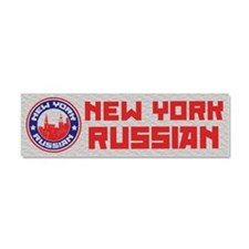 New York Russian American Car Magnet 10 x 3