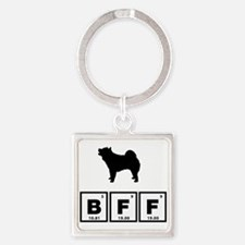 Chow Chow Square Keychain