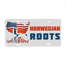 American Norwegian Roots Aluminum License Plate