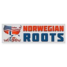 American Norwegian Roots Bumper Bumper Sticker