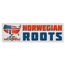 American Norwegian Roots Bumper Bumper Sticker