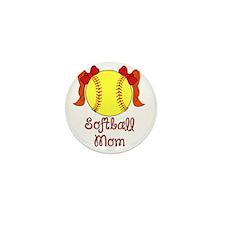Softball mom red head Mini Button