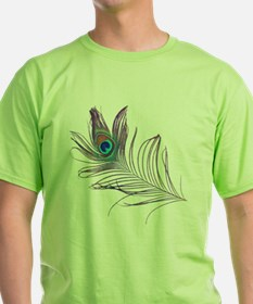 PEACOCKFEATHERshirt.gif T-Shirt