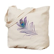 PEACOCKFEATHERshirt.gif Tote Bag