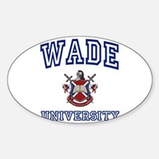 WADE University Oval Decal