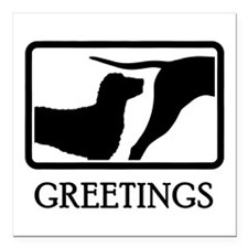 """Curly Coated Retriever Square Car Magnet 3"""" x 3"""""""