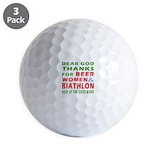 Beer Women and Biathlon Golf Ball