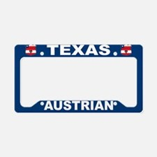 Texas Austrian American License Plate Holder