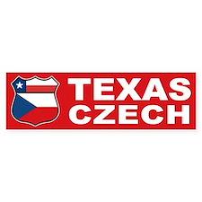 Texas Czech American Bumper Bumper Sticker