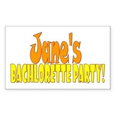 personalized bachlorette Rectangle Decal