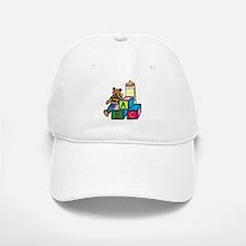 Teddy Bear & Blocks Baseball Baseball Cap