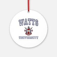 WATTS University Ornament (Round)