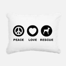Doberman Pinscher Rectangular Canvas Pillow