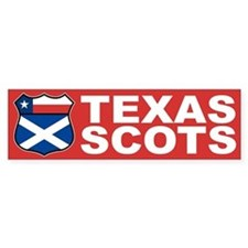 Texas Scottish American Bumper Bumper Sticker