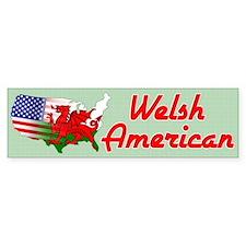 American Welsh Map Bumper Bumper Sticker