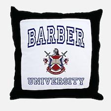BARBER University Throw Pillow