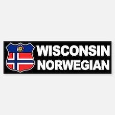 Wisconsin Norwegian American Bumper Bumper Bumper Sticker